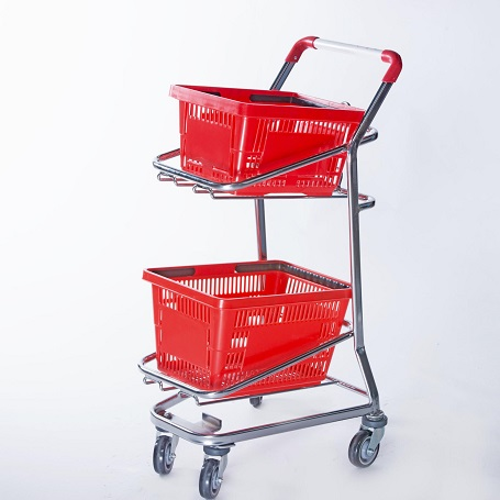 basket trolley, basket trolley with wheels