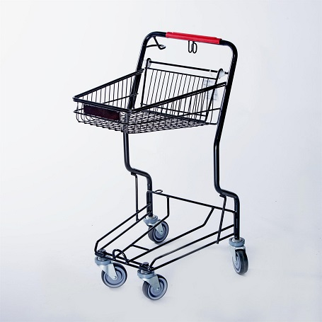 basket trolley with wheels